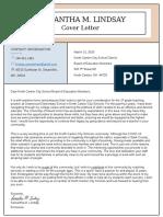 lindsay samantha cover letter