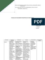 cuadro comparativo de técnicas de tratamiento en fisioterapia pediatrica.