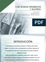 PRODUCCIÓN DE ÁCIDOS ORGÁNICOS Y ALCOHOL
