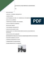 LISTA DE INSUMOS PARA MANTENIMIENTO DE PLAZA COCACHACRA