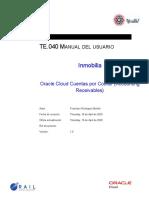 AR Cuentas por Cobrar -  Guia de Usuario