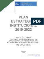 Plan Estratégico Institucional APC Colombia