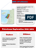 Oil and Gas in Lebanon