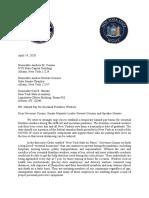 Letter on Hazard Pay by Assembly Member Aravella Simotas & Senator Jessica Ramos