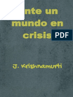 Ante un mundo en crisis - J. Krishnamurti