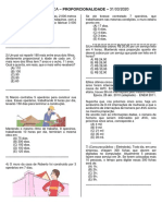 ATIVIDADE proporcionalidade e teorema de tales