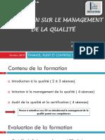 Formation Sur Le Management de La Qualité