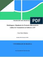 [2011] César Munhoz - Modelagem e Simulação da Proteção Diferencial de Linhas de Transmissão no Software ATP