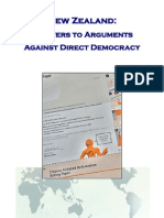 Answers to Arguments Against Direct Democracy