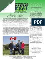Holstein Plaza April Newsletter