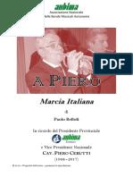 """Score Marcia """"A Piero"""" di Paolo Belloli"""