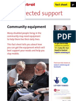 In Control Factsheet 31 Community Equipment