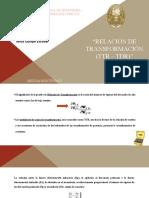 RELACION DE TRANSFORMACION TTR - DTR