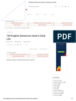 100 English Sentences Used in Daily Life - English Grammar Here