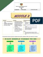 Taller inglés Sexto grado Module 2. (1)