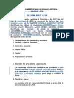 ACTA DE CONSTITUCION SOCIEDAD LIMITADA TRABAJO NORMAS APA