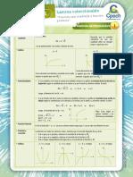 Lámina Función raíz cuadrada y función potencia