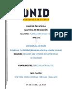 ESTUDIO DE FACTIBILIDAD. YOLANDA NAVARRO C.