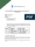 ACTA DE SUMINISTRO DE ELEMENTOS DE TRABAJO