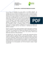 IMPORTANCIA DE LA BUENA GESTION DE RESIDUOS SOLIDOS