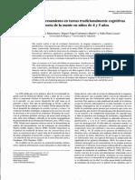 analisis del procesamiento en tareas tradicionales cognitivas niños 4 y5