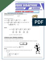 Binomio de Newton Con Exponente Natural Para Quinto de Secundaria