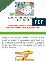 La Educacion Superior en Colombia