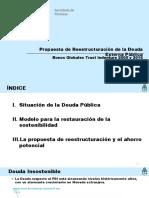 Presentación Reducida - Propuesta de Reestructuración de La Deuda Externa Publica