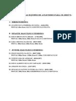 i - Formação Das Equipes