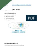 Satellite - Orbits
