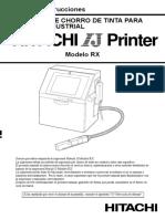 Manual de instrucciones IMPRESORA DE CHORRO DE TINTA PARA MARCADO INDUSTRIAL. HITACHI Printer. Modelo RX.pdf