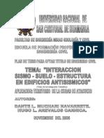 DISEÑO ESTRUCTURAL DE EDIFICIOS CONSIDERANDO LOS EFECTOS DINAMICOS CAUSADO POR SISMOS