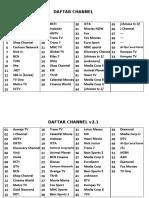 daftar channel tv kabel