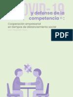 COVID-19 y defensa de la competencia (i)
