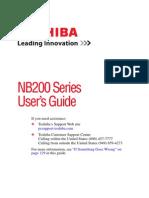 Toshiba Nb200 Series Manual