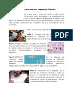 10 Pasos para crear una empresa en Colombia