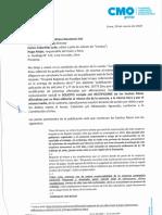 Carta Notarial de CMO Group SA a Caretas