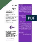 MONTEIRO, ELIANA - A CONTRIBUIÇÃO DAS COMPOSITORAS BRASILEIRAS À CANÇÃO E AO FEMINISMO