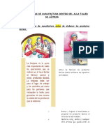 BUENAS PRÁCTICAS DE MANUFACTURA DENTRO DEL AULA TALLER DE LÁCTEOS