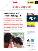 In Control Factsheet 36 Mental Health and Self-Directed Support