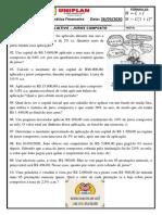 TRABALHO DE MATEMÁTICA FINANCEIRA -JUROS COMPOSTOS