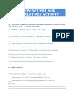 COMPARATIVE AND SUPERLATIVE ACTIVITY .doc