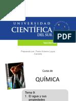 TEMA 9 EL AGUA Y SUS PROPIEDADES - SOLUBILIDAD Y EFECTO CONCENTRACION.pptx