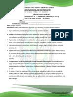 DIMENSION CORPORAL (ed. Fisica) PREESCOLAR TRABAJO EN CASA