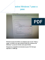 Informe sobre Windows 7 paso a paso FIERRO