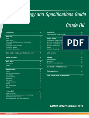 Crude Oil Specs | West Texas Intermediate | Contract For
