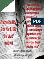 AVISO DE TRASMISION DIA 2