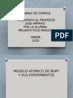 MODELO ATÒMICO DE BORT Y SUS EXPERIMENTOS
