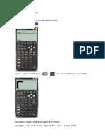 Realizar matriz inversa na hp