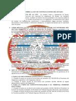 CUESTIONARIO SOBRE LA LEY DE CONTRATACIONES DEL ESTADO
